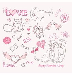 valentine sketch vector image vector image