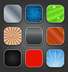 Backgrounds with texture for the app icons vector image vector image