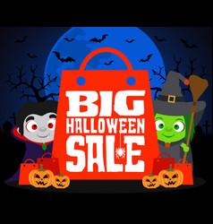 big halloween sale design background vector image vector image