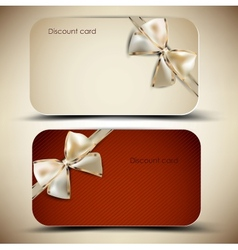 Collection of gift cards with ribbons background vector image vector image