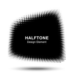 convex distorted abstract halftone trapezium frame vector image