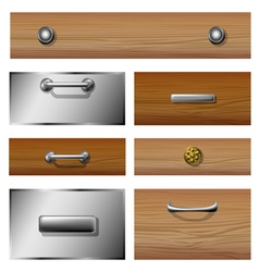 Drawer front set vector