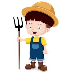 Little farmer vector image vector image