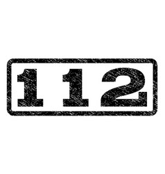 112 watermark stamp vector image