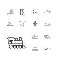 13 passenger icons vector