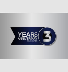 3 years anniversary logo style with circle vector