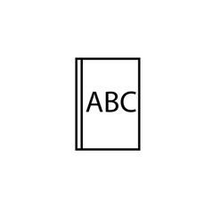 abc book icon vector image