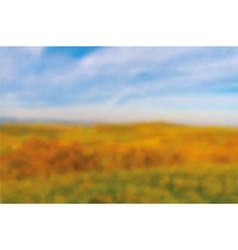 Autumn blurred bacground vector