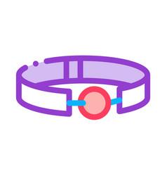 Ball gag sex toy icon outline vector