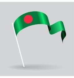 Bangladeshi wavy flag vector