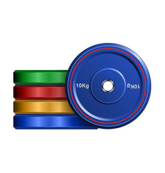 Barbell disc icon realistic icon vector