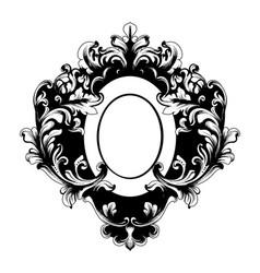 Baroque mirror frame victorian ornamented vector