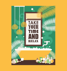 bath typography poster vector image