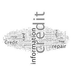 beware bogus credit repair companies vector image
