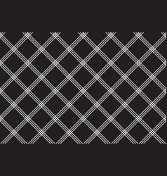 black white fabric diagonal texture seamless vector image