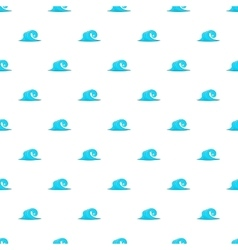 Blue sea wave pattern cartoon style vector