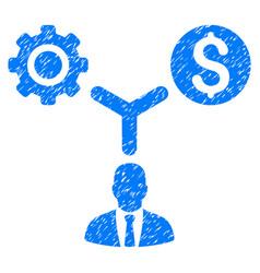 Business scheme grunge icon vector