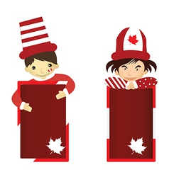 Cartoon of Kid Canada Day vector image