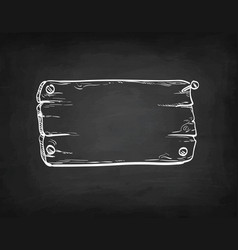 Chalk sketch signboard vector
