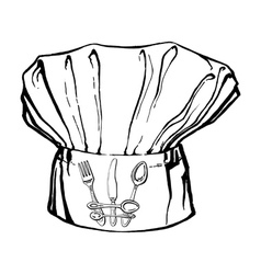 chefs hat with crown vector image