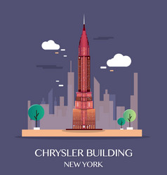 Chrysler building new york vector