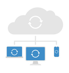 cloud server icon vector image