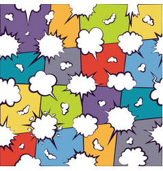 comics chatting empty cloud pattern vector image