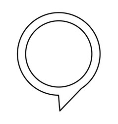 Contour chat circle bubble icon vector