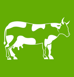 cow icon green vector image