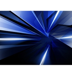Dark Abstract Background of Blue Luminous Rays vector image