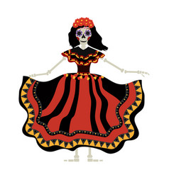 Dia de los muertos calavera katrina icon day of vector