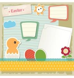 Easter scrapbook set vector image