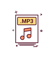 file files mp3 icon design vector image