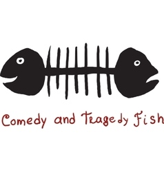 Fish comedy and tragedy vector image