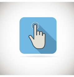 Flat hand icon pointer touch vector