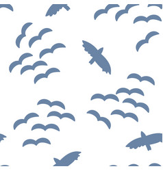 flock of birds in the sky seamless pattern vector image
