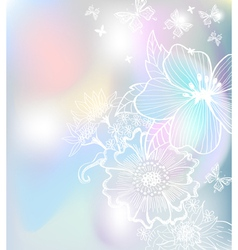 floral tender card vector image