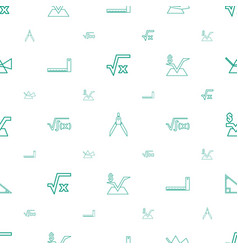 geometry icons pattern seamless white background vector image