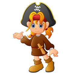Girl Pirate cartoon vector