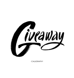 Giveaway banner for social media contests and vector image
