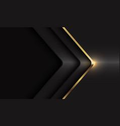 Gold line arrow shadow curve dark grey metallic vector