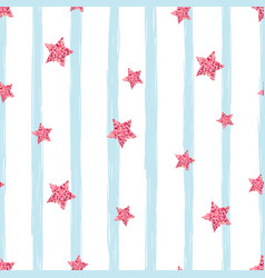 Gold star -seamless pattern cute vector