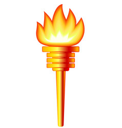 gold torch vector image