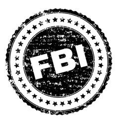 Grunge textured fbi stamp seal vector