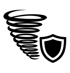 Hurricane protection icon simple black style vector