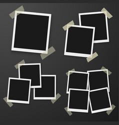 instant photo photorealistic eps10 retro instant vector image
