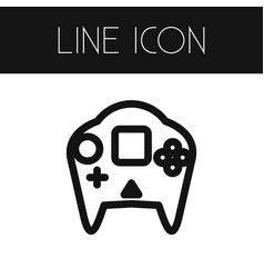 isolated arcade outline video-game element vector image vector image