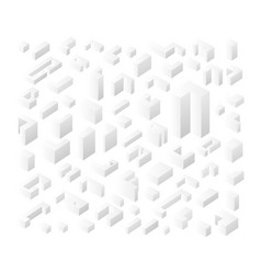 isolated white icons vector image