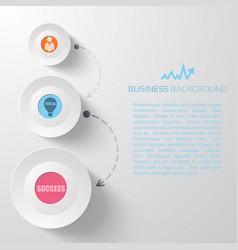 Light business infographics vector