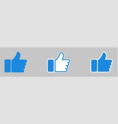 Like icon thumb up vector